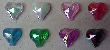 Color available for Aurora Borealis Hearts