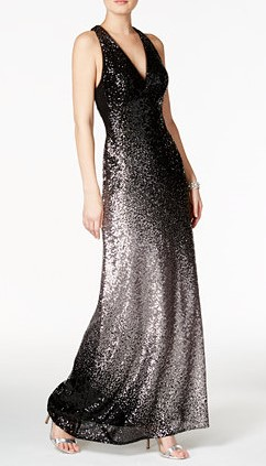 Black Ombre Prom Dress