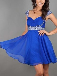 Short Royal Blue Dress for Homecoming Dance