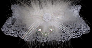 Keepsake Wedding Garter with Crystal AB Hearts.
