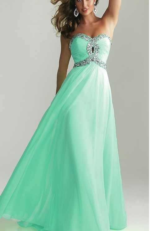 Green Lucite Prom Dress