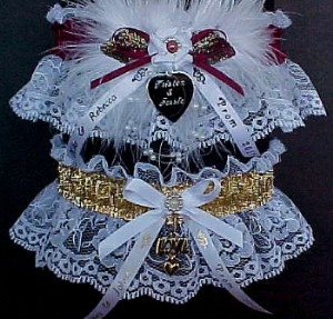 Prom Garters, Homecoming Garters, Personalized Garters, Custom Garters, metallic Garters