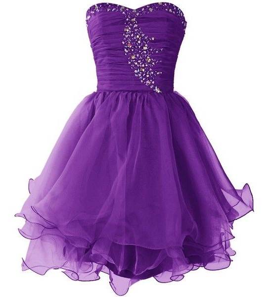Purple Dress for Homecoming Dance