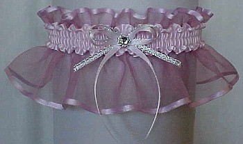Icy Pink Sheer Bridal Garter - Wedding Garter - Prom Garter - Fashion Garter. garders, garder