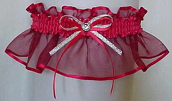Ruby Sheer Bridal Garter - Wedding Garter - Prom Garter - Fashion Garter. garders, garder