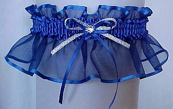 Royal Blue Sheer Bridal Garter - Wedding Garter - Prom Garter - Fashion Garter. garders, garder
