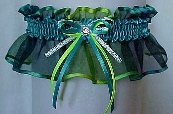 Jade Key Lime Sheer Bridal Garter - Wedding Garter - Prom Garter - Fashion Garter. garders, garder