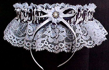 Fancy Bands™ Zebra Print Garter. Zebra Garter for Wedding Bridal or Prom.
