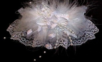 Keepsake Garter. Deluxe May bells Wedding Garter Bridal Garter on white lace.  garders, garder