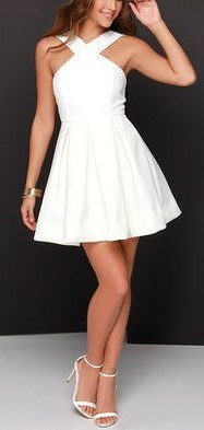 Short White Dress for Homecoming Dance