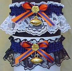 Sports Fan Bands™ Football Garter in Team Colors for Chicago Bears. garders, garder