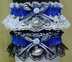 Sports Fan Bands Football Garter in Team Colors for Dallas Cowboys. garders, garder