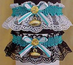 Sports Fan Bands Football Garter in Team Colors for Philadelphia Eagles. garders, garder