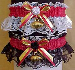 Sports Fan Bands Football Garter in Team Colors for Washington Redskins. garders, garder