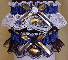 Sports Fan Bands Football Garter in Team Colors for San Diego Chargers. garders, garder