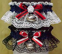 Sports Fan Bands Football Garter in Team Colors for Houston Texans. garders, garder