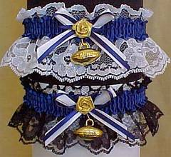 Sports Fan Bands Football Garter in Team Colors for Indianapolis Colts. garders, garder