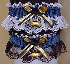 Sports Fan Bands Football Garter in Team Colors for Jacksonville Jaguars. garders, garder