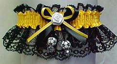 Custom Themed Soccer Garter in Team Colors. Soccer Garters with Soccerballs. garders, garder