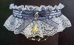 Nautical Sailboat Garter on white lace with Sailboat Charm. garders, garder
