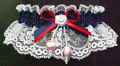 Baseball Garter in team colors. Garters with Baseballs. garders, garder