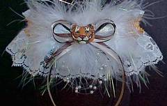 Tiger Prom Garters on Ivory Lace