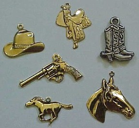 Charms For Garters All Sports Western Farm Or Gambling